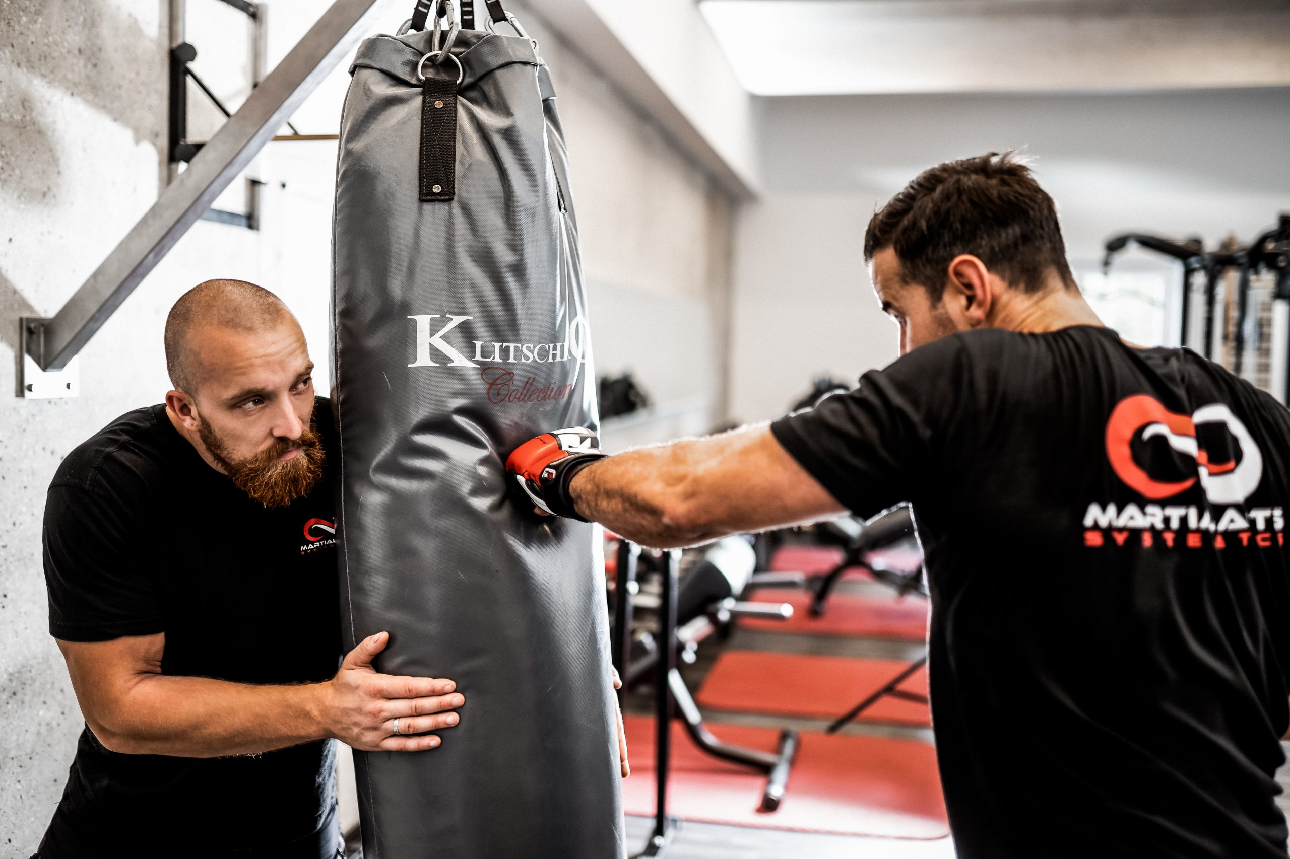 Kampfkunst Sandsack Training